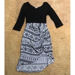 Charlotte Russe - 3/4 sleeve Mini High Low Dress